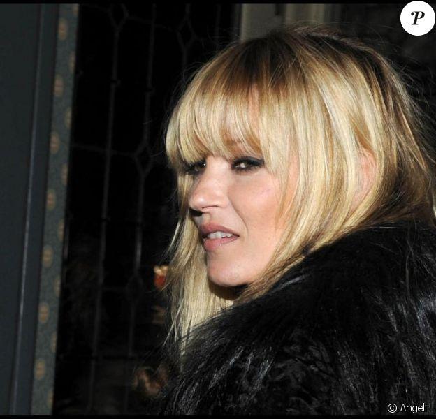 Kate Moss lors de la soirée de lancement du nouvel album de Bryan Ferry à Londres le 19/10/10
