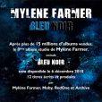 Mylène Farmer, communiqué album  Bleu Noir , le 21 octobre 2010