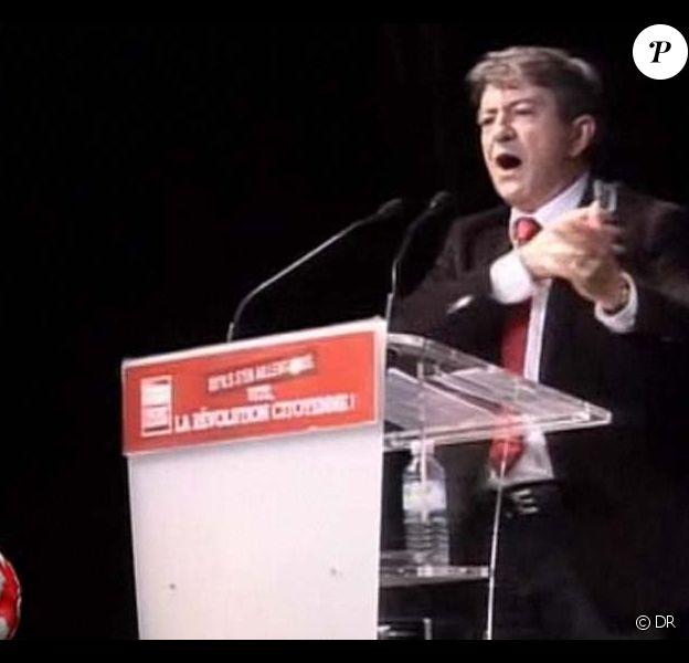 Jean-Luc Mélenchon, meeting du Parti de gauche à Paris, au théâtre Dejazet, le 18 octobre 2010
