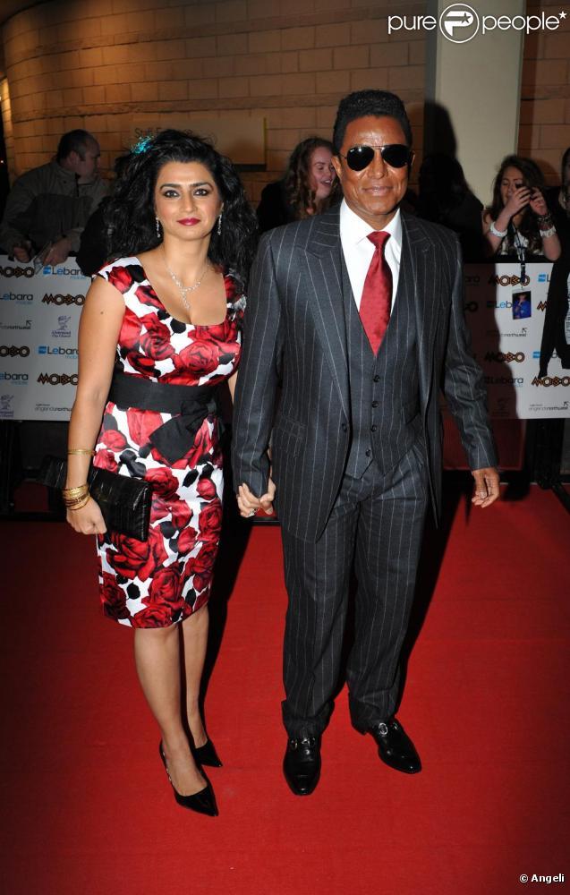 Jermaine Jackson et sa femme Halima Rashid à la cérémonie des MOBO Awards, le 20 octobre 2010