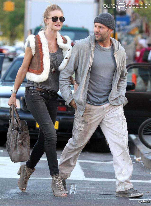 Jason statham et rosie huntington whiteley sur le tournage de safe