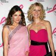 Liz Hurley et Gwyneth Paltrow ont fait honneur au dress code de cette soirée contre le cancer du sein
