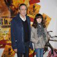 Première du spectacle  Bharati , au Palais des Congrès de Paris, le 2 novembre 2010 : Alain Chamfort et sa fille Tess