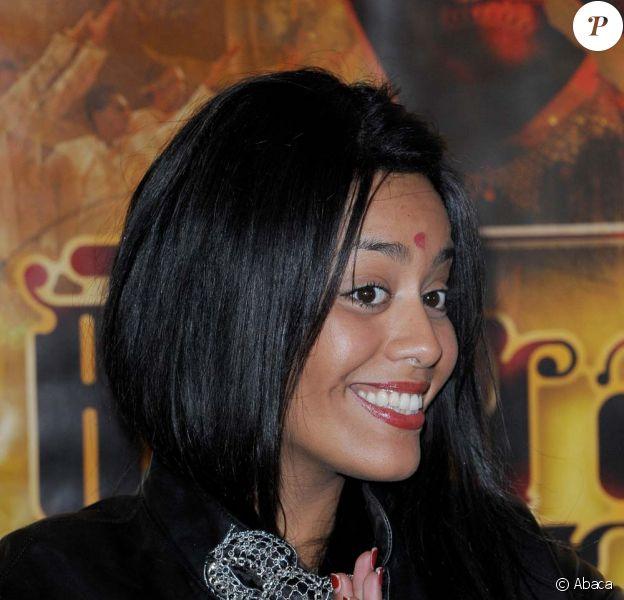 Première du spectacle Bharati, au Palais des Congrès de Paris, le 2 novembre 2010 : Amel Bent