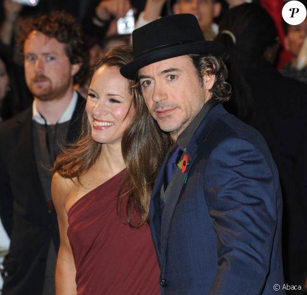 Robert Downey Jr. et sa femme Susan Levin lors de l'avant-première de Date Limite, à l'Empire Cinema de Leicester Square, à Londres, le 3 novembre 2010.