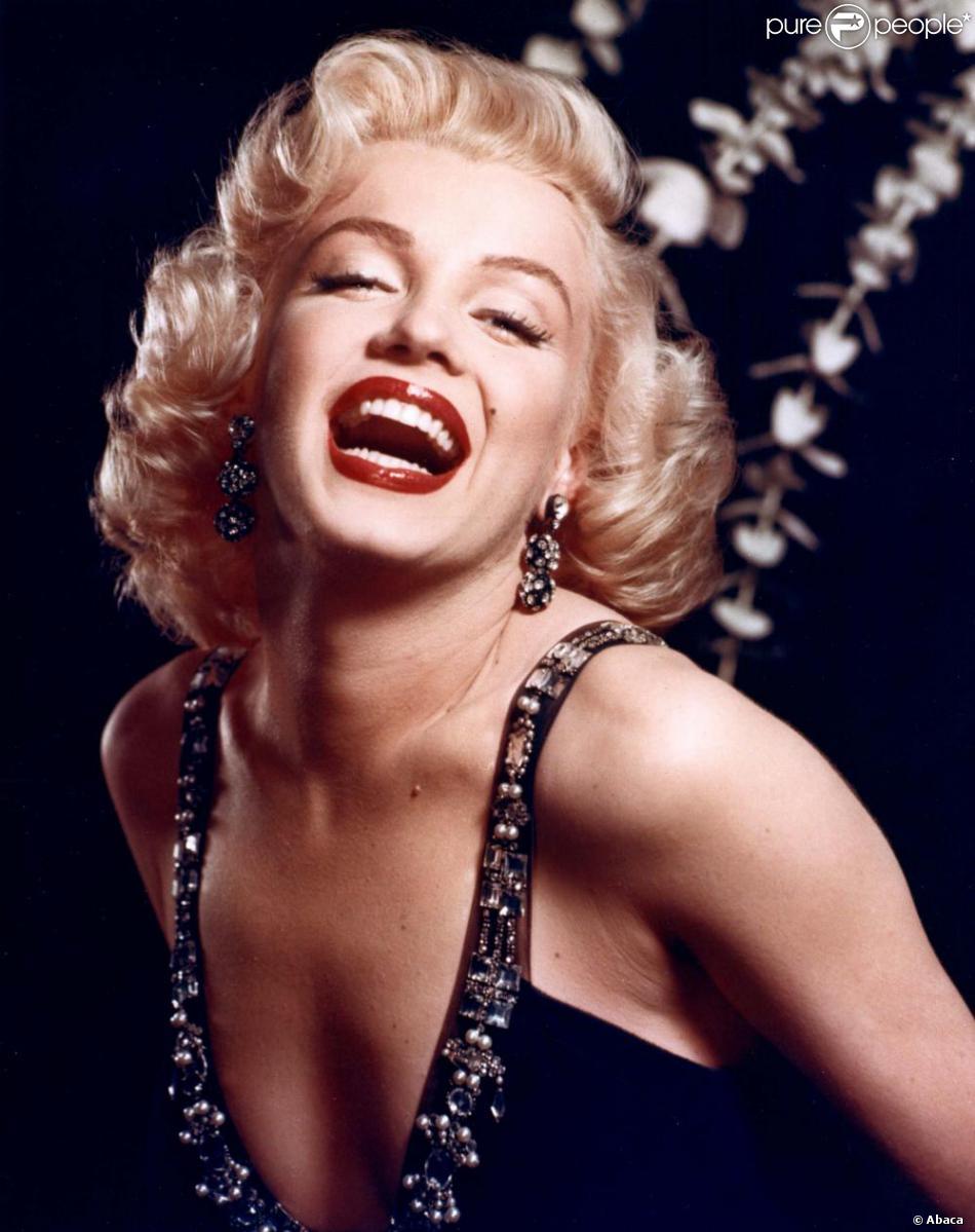Marilyn Monroe, mythique avec sa bouche rouge glamour a inspiré toutes les vedettes d'Hollywood.