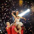 Russell Brand assiste au concert de sa femme Katy Perry lors des MTV EMA le 7 novembre 2010