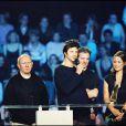 """""""Serge Teyssot-Gay, Bertrand Cantat, Jean-Paul Roy et Denis Barthe de Noir Désir lors des Victoires de la musique, le 10 mars 2008."""""""