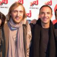 Karine Ferri, David Guetta, Nikos et Mustapha El Atrassi dans le 6/9 sur NRJ, le 30 novembre 2010