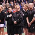 L'équipe de Billie Jean King et Elton John lors du WTT Smash Hits à Washington en novembre 2010