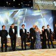 La 10e édition du Festival International du Film de Marrakech a connu une soirée inaugurale exceptionnelle, le vendredi 3 décembre 2010, notamment grâce à la présence massive des stars. Le jury.