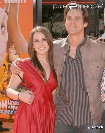 Jim Carrey et sa fille Jane en mars 2008