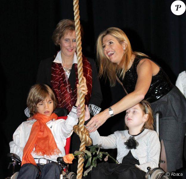 La princesse Maxima des Pays-Bas au trentenaire de la Fondation pour la recherche contre la sclérose en plaques, le 14 décembre 2010.