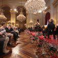 La famille royale belge était rassemblée au palais de Laeken pour le traditionnel concert de Noël, le 15 décembre 2010, à Bruxelles.
