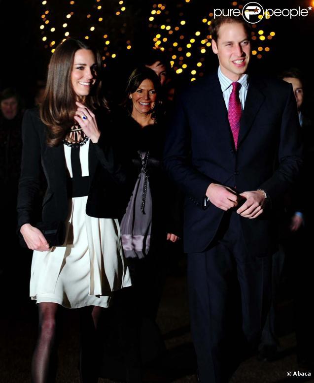 Kate Middleton et le prince William, réception de Noël à Norfolk, le 18 décembre 2010