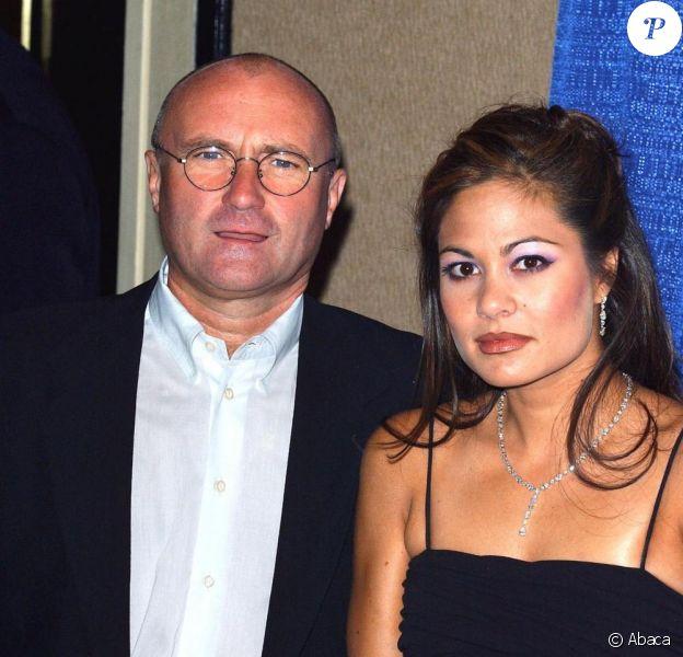 Orianne Cevey et Phil Collins en 2003