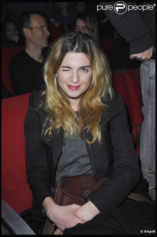 Cécile Cassel à la générale du show de Gaspard Proust, à la Cigale, le 16 décembre 2010.