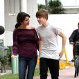 Justin Bieber et Selena Gomez font une promenade romantique à South Beach, Miami, le 18 décembre 2010.