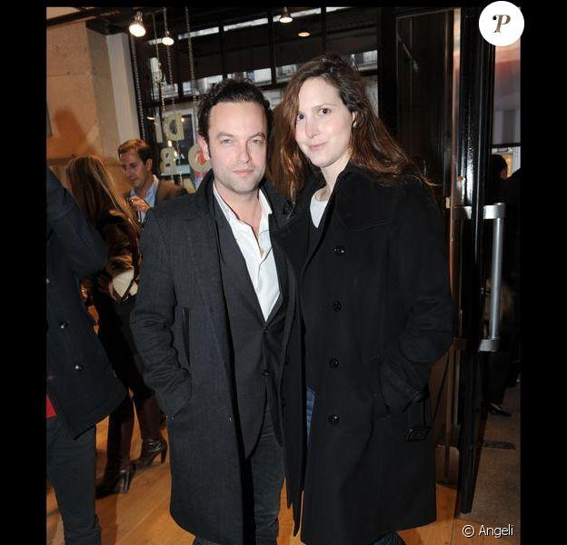 Justine Lévy et Patrick Mille en avril 2010.