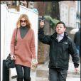 Claudia Schiffer va chercher ses enfants à l'école, le 7 janvier 2011.