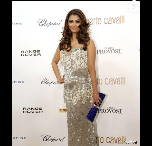 Aishwarya Rai à Paris pour fêter les 40 de carrière de Roberto Cavalli, le 29 septembre 2010