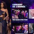 Jenifer et Line Renaud remettent le NRJ Music Award du Concert de l'année.