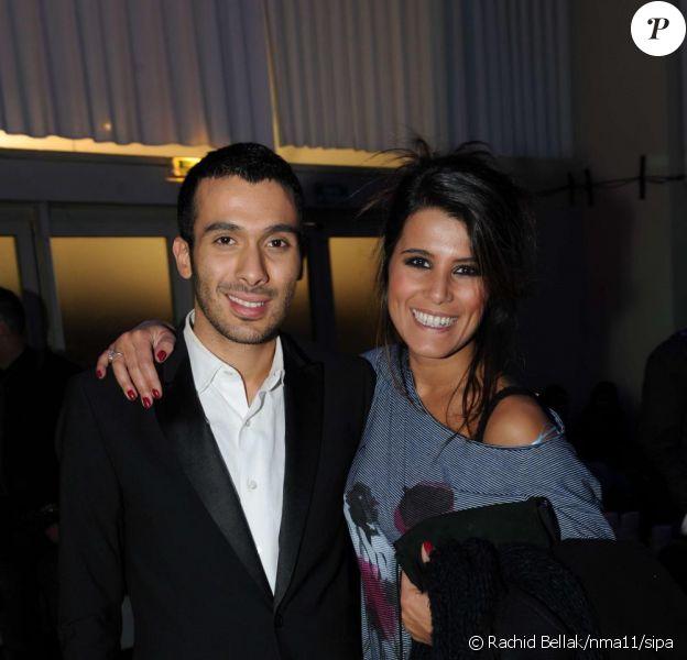 Mustapha El Atrassi et Karine Ferri lors de l'after-party des NRJ Music Awards 2011 au Palm Beach de Cannes le 22 janvier 2011