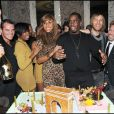 P. Diddy fête le lancement de son album Last Train to Paris à L'Arc, en compagnie de David et Cathy Guetta ainsi que Dean et Dan de Dsquared à Paris le 23 janvier 2011