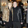 Philippe Harel et sa femme Sylvie Bourgeois au défilé Haute Couture de Dany Atrache durant la Fashion Week parisienne, le 26 janvier 2011.