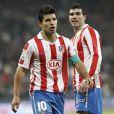 """""""El Kun Aguero, lors d'un match de la Copa del Rey, Atletico Madrid contre le Real, le 13 janvier 2011"""""""