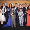 L'heureux casting de Modern Family, gagnant d'un Screen Actors Guild Awards à Los Angeles le 30 janvier 2011