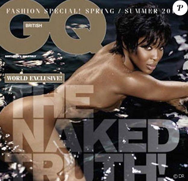 La ravissante Naomi Campbell en couverture de l'édition britannique du magazine GQ, mars 2011.