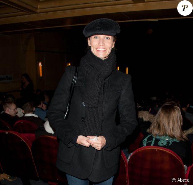 Alexandra Lamy à la représentation du one man show Dernières avant Vegas, d'Audrey Lamy, au Palais des Glaces, le 2 février 2011.