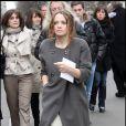 Sara Forestier, lors de son arrivée au Fouquet's, sur les Champs-Elysées, à Paris, pour le déjeuner des nominés des César 2011, le 5 février 2011.