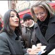 Leïla Bekhti, lors de son arrivée au Fouquet's, sur les Champs-Elysées, à Paris, pour le déjeuner des nominés des César 2011, le 5 février 2011.