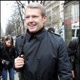 Lambert Wilson, lors de son arrivée au Fouquet's, sur les Champs-Elysées, à Paris, pour le déjeuner des nominés des César 2011, le 5 février 2011.