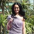 Katy Perry donne une conférence de presse à Mexico (Mexique) à  l'occasion de la sortie de son parfum Purr, samedi 5 février, puis  rencontre ses fans locaux pour une séance de dédicaces.