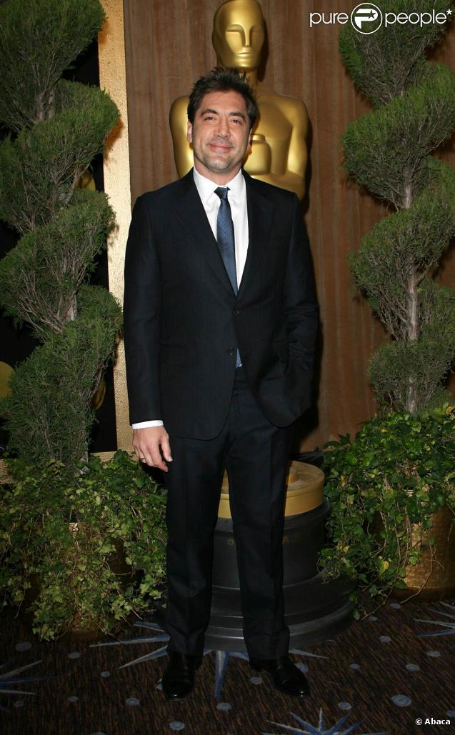 Javier Bardem lors du déjeuner des nominés des Oscars, au Beverly Hilton de Beverly Hills, à Los Angeles, le 7 février 2011.