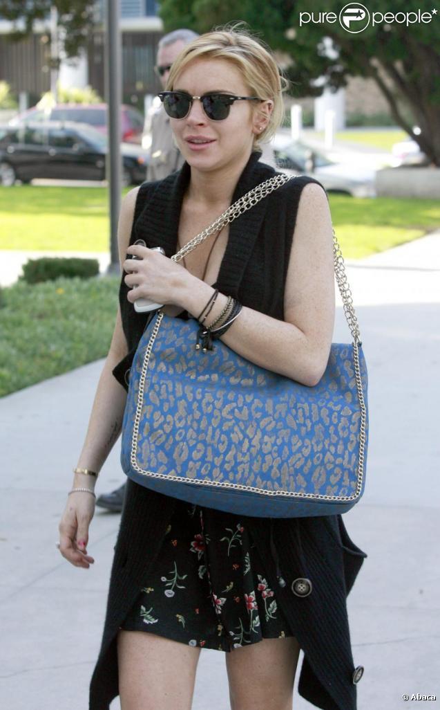 Lindsay Lohan se rend au Palais de justice de Santa Monica, à Los Angeles. 8/02/2011