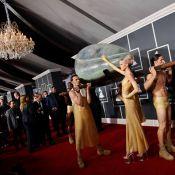 Les gagnants des 53èmes Grammy Awards : Lady GaGa est arrivée... dans un oeuf !