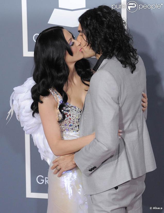 Katy Perry et Russell Brand à la cérémonie des Grammy Awards, le 13 février 2011.