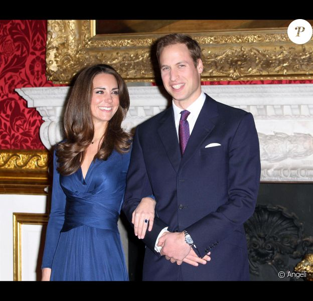 Kate Middleton et le prince William en novembre 2010