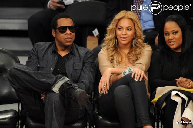 Beyoncé et Jay-Z lors des NBA All-Star Game au Staples Center de Los Angeles le 20 février 2011