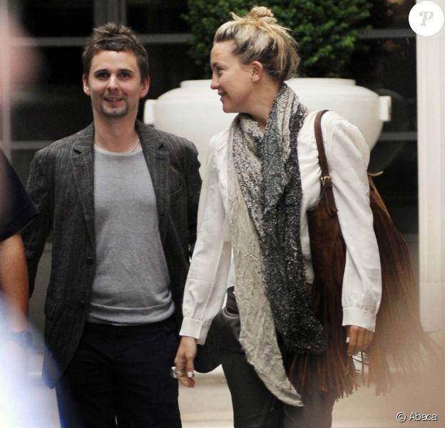 Matthew Bellamy et Kate Hudson, Londres, le 22 juillet 2010