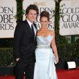 Jennifer Love Hewitt et son fiancé Alex Beh à la cérémonie des Golden Globes, le 16 janvier 2011.