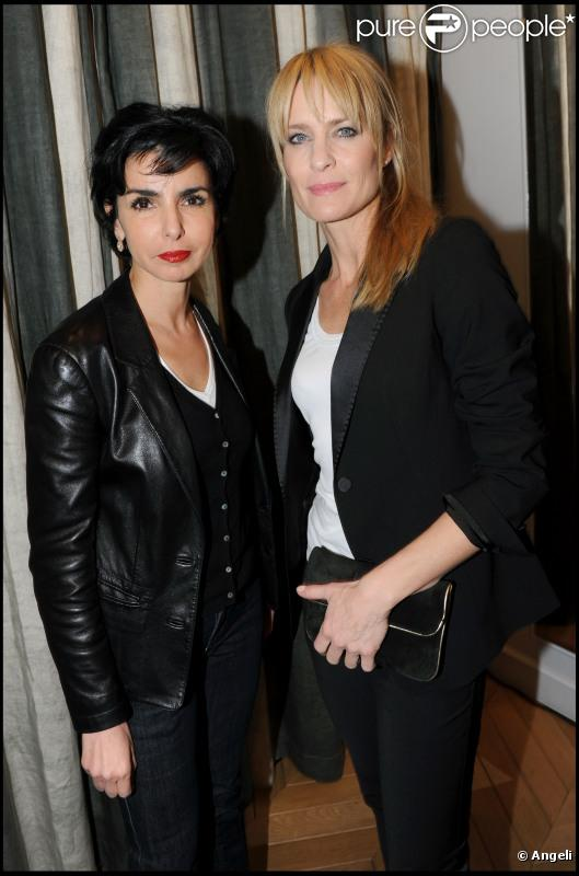 Rachida Dati et Robin Wright lors du cocktail Gérard Darel le 9 mars à Paris