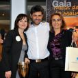 Cécilia Hornus, le journaliste Georges Mallart organisateur du gala et Mme D. Milon, Maire de Cassis, au Gala Main dans la main autour du Monde 2011, à Cassis le 5 mars 2011