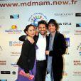Blandine Bury, Georges Mallart, Nicolas Herman au Gala Main dans la main autour du Monde 2011, à Cassis le 5 mars 2011