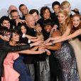 Tout le casting de Glee et leur Golden Globes 2011 de la meilleure série comique ou musicale.