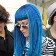 Katy Perry, faisant du shopping chez Colette. Elle s'investit beaucoup pour le Japon.